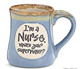 1 X I'm a Nurse Superpower Light Blue 18 Oz Mug