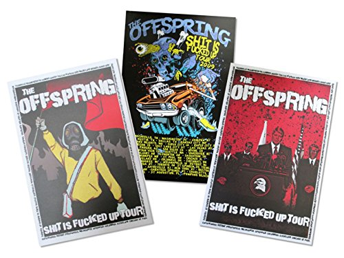 The Offspring Tour 2009 Three Piece Wall Poster Gift Set