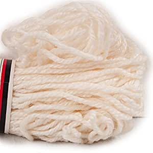 TWO PACK White Aunt Lydia's Heavy Rug Yarn. 75% Rayon and 25% Cotton