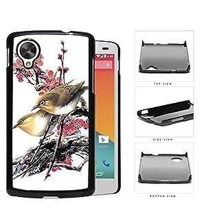 Love Birds On Cherry Blossom Hard Plastic Snap On Cell Phone Case LG Nexus 5