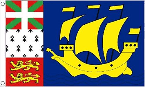 France Saint Pierre and Miquelon Flag 5'x3'  - Woven Polyest