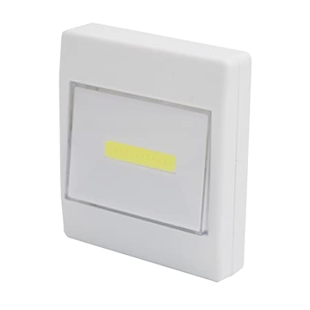 Ascension Ultra Bright Magnetic Mini COB LED Battery Operated Wall Light with inbuilt Switch Tape (White) Switches & Dimmers at amazon