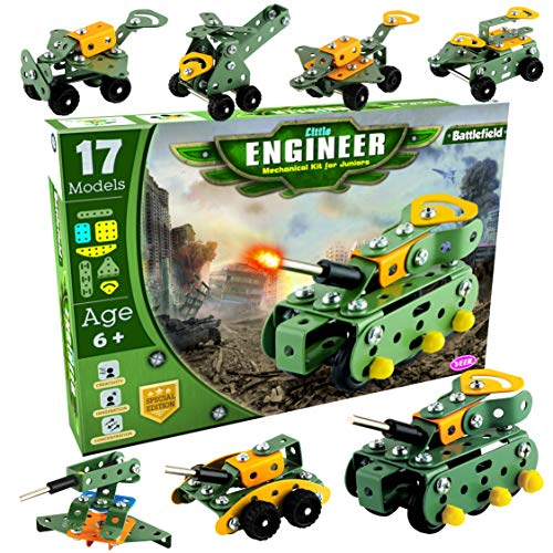 AdiChai   Little Engineer Mechanical Kit for Juniors   Build Your Own Battlefield Vehicles   Building Construction Engineering Toys for Kids