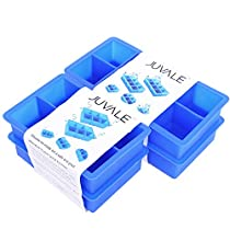 Giant Ice Cube Maker Silicone Mold Trays - Set of 4 Trays - Perfect for Highball Glasses, Pairing with Scotch, or Whiskey -Keeps Drinks Chilled for Hours -Makes a Total of 28 Extra Large Ice Cubes, 2