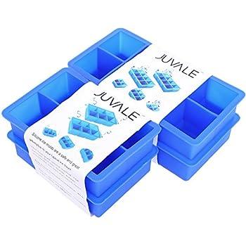 Amazon Com Casabella Silicone Big Cube Ice Cube Tray Set