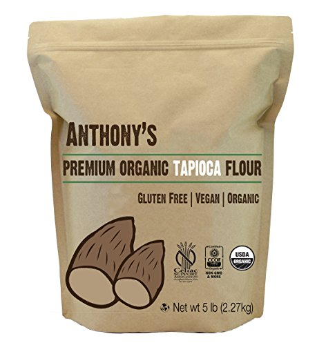 Organic Tapioca Flour / Starch (5 Pounds) by Anthony's, Certified Gluten-Free & Non-GMO