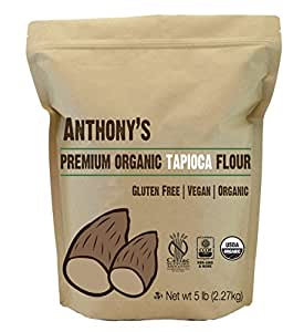 Organic Tapioca Flour / Starch (5 Pounds) by Anthony's, Gluten-Free & Non-GMO
