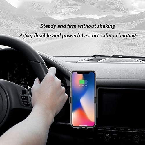 PLLL Car Holder Telefono, Uscita Aria Gravity Auto Senza Fili del Caricatore for IPhone8 / XR/XS Samsung Huawei del Telefono Mobile di Ricarica for Auto Holder Nero 807