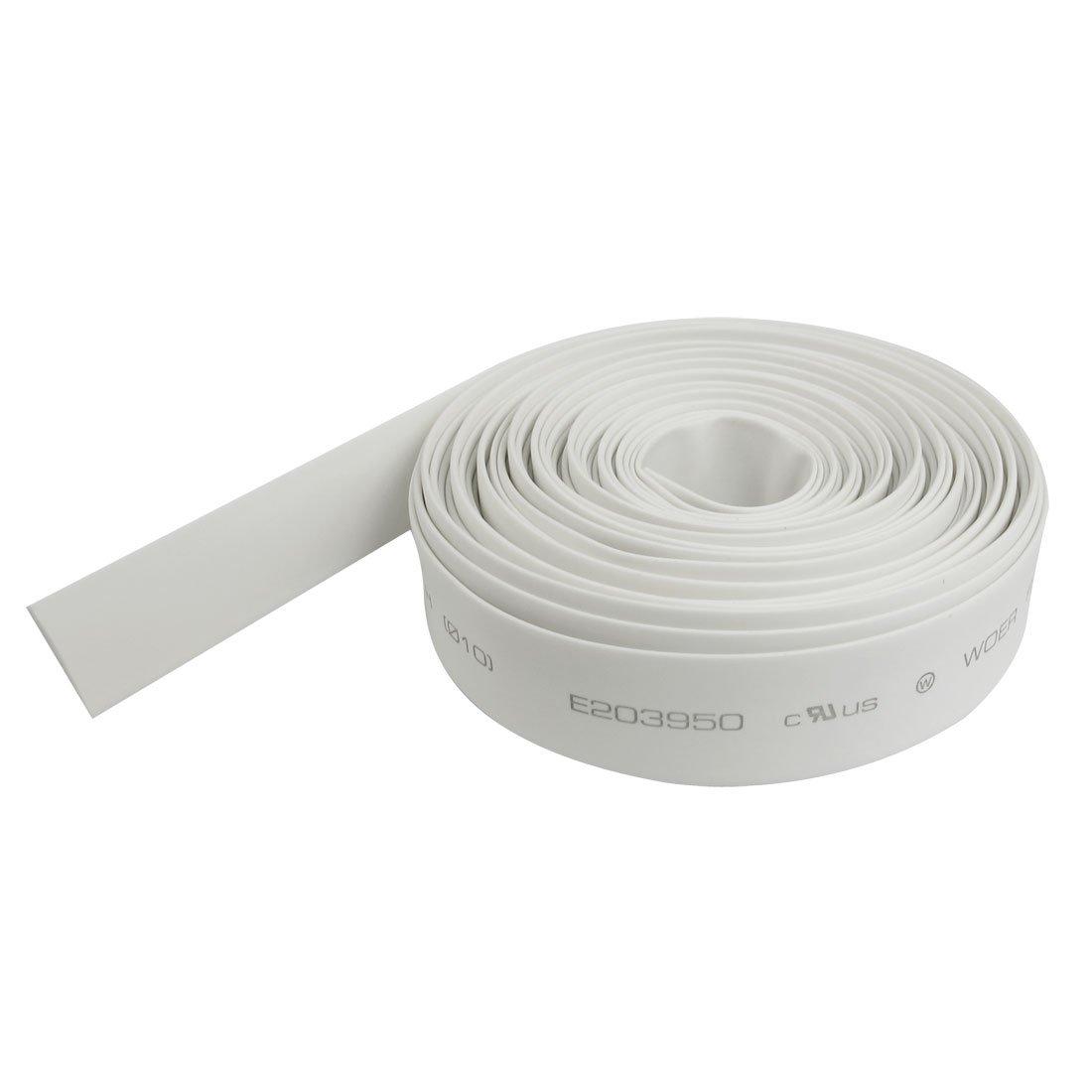 uxcell White 10mm Diameter Heat Shrink Tubing Shrinkable Tube Wire Wrap 6M