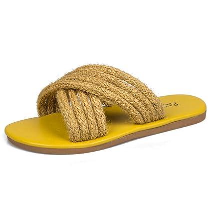 9b16d649fe7fc Amazon.com: Clearance! Women Rope Band Sandals Flat Fisherman Shoes ...