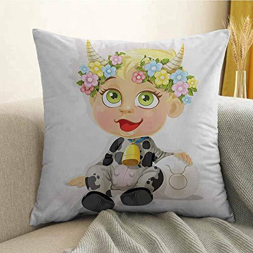 FreeKite Zodiac Taurus Printed Custom Pillowcase Happy Baby