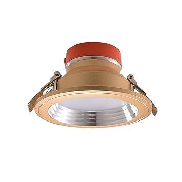 Noilyn 3-Color LED cambiante Downlights Redondo Empotrado Luces de Panel de Techo Luces de Techo Europeo Equipado de Lujo Moderno Chrome Focos para ...