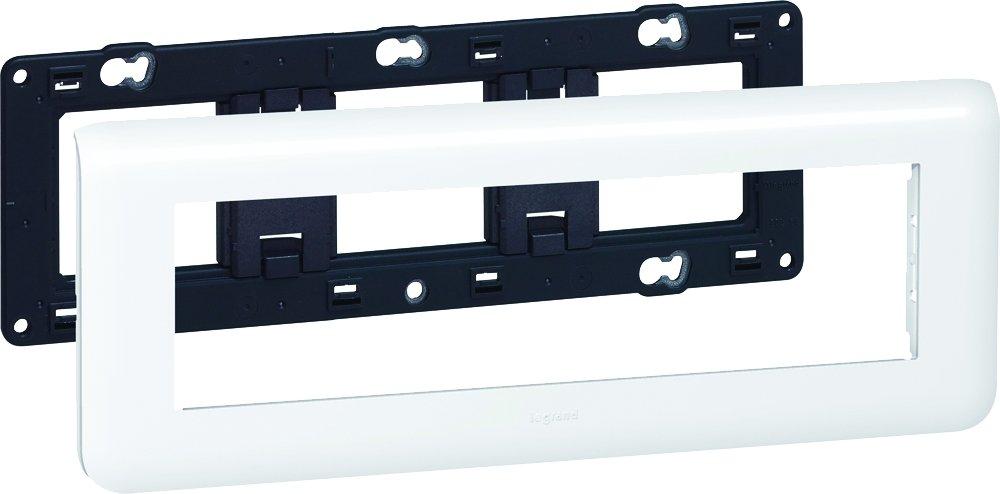 Legrand Mosaic LEG99678 - Marco embellecedor para 8 módulos, color blanco: Amazon.es: Bricolaje y herramientas