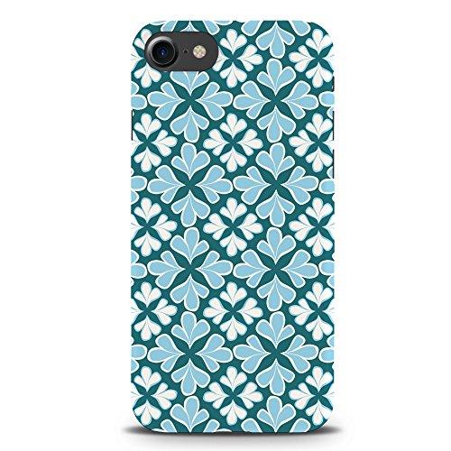 Koveru Back Cover Case for Apple iPhone 7 - Blue flower Pattern