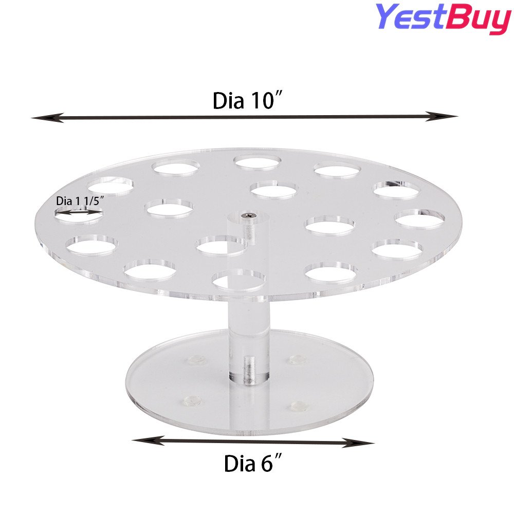 YestBuy Clear MINI Acrylic Ice Cream Cone Stand Holder 16 - Capacity ¡