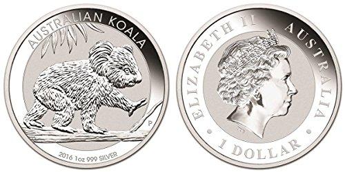 2016 AU Australian Koala One Ounce Silver Coin .999 Fine Silver Dollar Uncirculated Mint