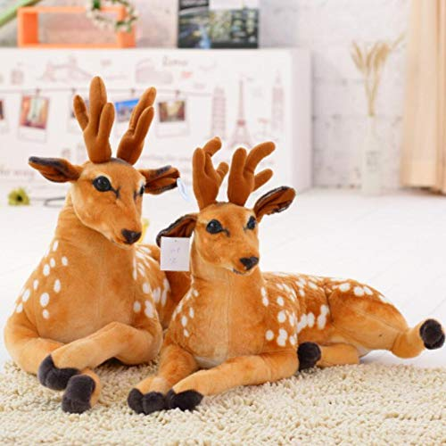 GOOGEE Deer Stuffed - Simulation Plush Deer Stuffed Toy Soft Deer Plush Doll for Kids Baby Children Birthday Gift - 12 Inch - Animals Pattern Small Size John Plaid White in Woodland Hunting