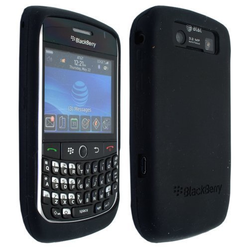 Black Silicone Soft Skin Case Cover for RIM Blackberry Curve 8900 9300 (Blackberry Curve Protective Case)