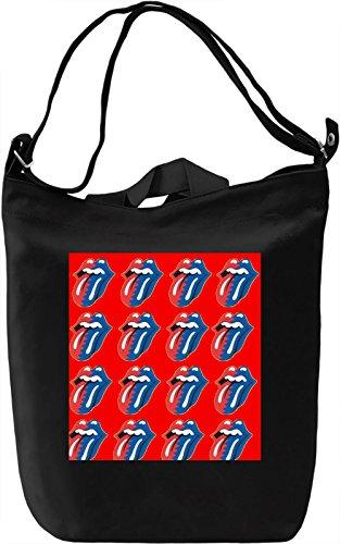 Kiss Pop Art Full Print Borsa Giornaliera Canvas Canvas Day Bag  100% Premium Cotton Canvas  DTG Printing 