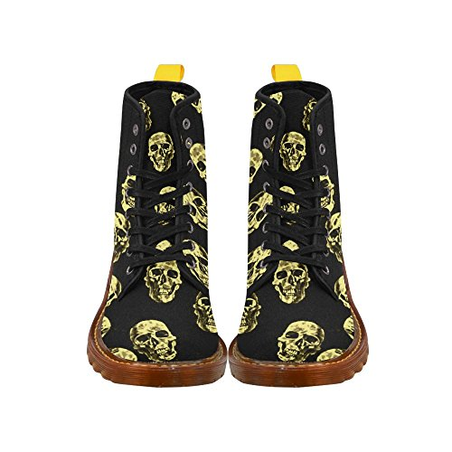 Leinterest Hot Skulls, Eggshell Martin Boots Fashion Shoes Voor Dames