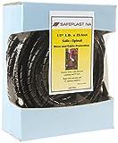 Pre-Cut Spiral Wrap Hose Protector, 0.67'' OD, 25' Length, Black