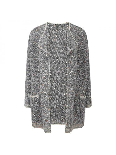 - Marina Rinaldi Women's Miele Knit Cardigan X-Large Grey Multicolored