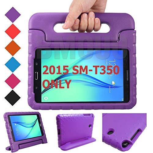 BMOUO Kids Case for Samsung Galaxy Tab A 8.0 (2015) SM-T350 - EVA Shockproof Case Light Weight Kids Case Cover Handle Stand Case for Kids Children for Samsung Galaxy TabA 8-inch Tablet - Purple