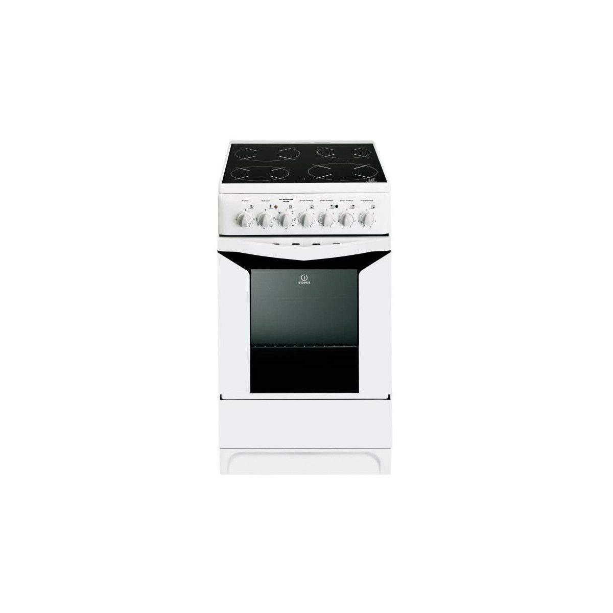 Indesit k3c51wfrs - cuisiniere 50cm vitrocéramique