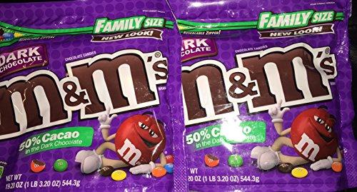 M&M's Dark Chocolate 50% Cacao, 2 Pack 1 Lbs 3 Oz Each one