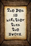 The pen is mightier than the sword: A 6 x 9 Lined