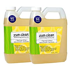 """ZUM CLEAN LAUNDRY SOAP TEA-TREE CITRUS 32 FL. OZ.: Clean up your laundry's grime scene with this spot-stain-stink cleaner. Zum Clean Laundry Soap isn't the """"D"""" word (detergent) or all the nasty chemicals that go with it. And just because it c..."""