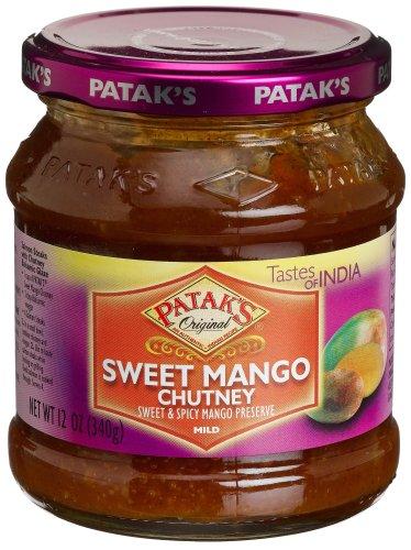 Patak's Sweet Mango Chutney, Mild, 12-Ounce Glass Jars (Pack of 6) Chicken Chutney