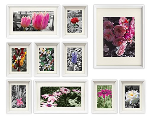 white picture frames with mat - 7