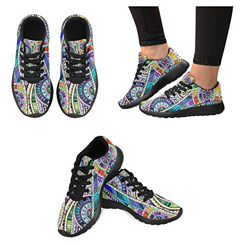 InterestPrint Womens Jogging Running Sneaker Lightweight Go Easy Walking Casual Comfort Running Shoes Multi 4 pIWfk40iyl