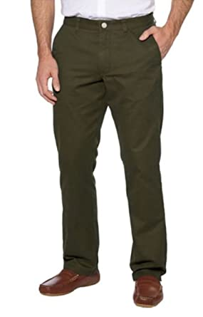 74c2e7144f Tailor Vintage Men's Flat Front Straight Fit Washed Chino Pant (42x30,  Olive)