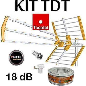 KIT ANTENA TECATEL BKM-18 NARANJA + ROLLO CABLE TELEVES DE ...