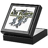 Keepsake Box Black US Air Force Planes Fighter Jets