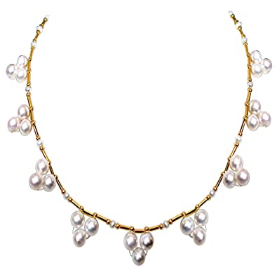 103311dc3 Buy Surat Diamonds Single Line Flower Design Real Freshwater Pearl Necklace  for Women (SN143) Online at Low Prices in India | Amazon Jewellery Store ...