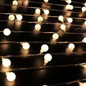 Ball String Lights,100 LED 33ft/10m Globe Fairy Lights Christmas Lights by IDEAS