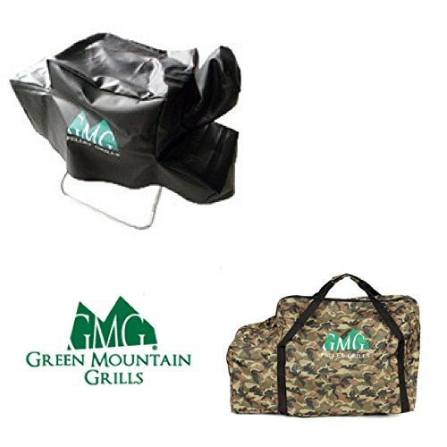 Green Mountain Grill Davy Crockett Cover & Camo Tote Combo G