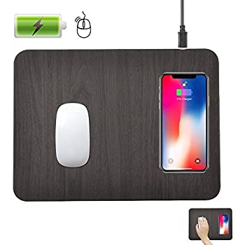 Wireless Charging Mouse Pad,QI Wireless Fast Charging Pad Station Mat 5 W for Galaxy Note 8 S8 S8 Plus S7 Edge S7 S6 Edge Plus Note 5, Standard Charge for iPhone X iPhone 8 - AC Adapter Not Included