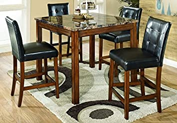Ashley Furniture Signature Design   Theo Dining Room Table And Barstools    Counter Height   Set