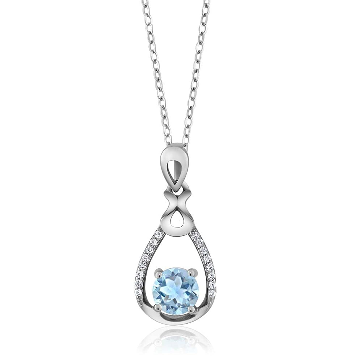necklace cut de pear beers shaped pendant diamond white aura gold
