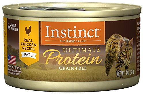 Instinct Ultimate Protein Grain Free Real Chicken Recipe Natural Wet Canned Cat Food by Nature's Variety, 3 oz. Cans (Case of 24)