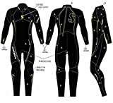 Scubapro Definition Steamer 3mm Men's Wetsuit - Black/Yellow - Large