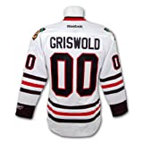 Clark Griswold Christmas Vacation Blackhawks Premier Replica White Hockey Jersey