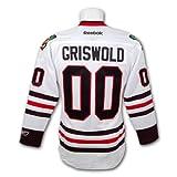 Clark Griswold Christmas Vacation Blackhawks Premier Replica White Hockey Jersey