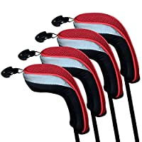 Andux Golf Hybrid Club Head Covers Set of 4 Interchangeable Number Tags