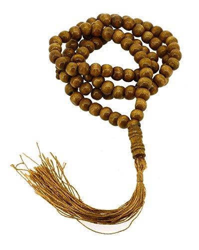 Muslim Worry Beads - Mandala Crafts Muslim Islam Misbaha Tasbeeh Sibha 99 Prayer Beads Necklace (Wood)