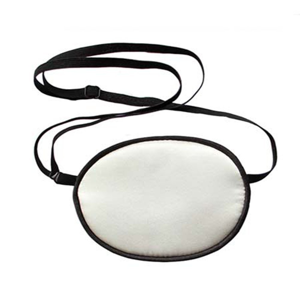 EUBUY Pirate Eye Patch,No Leakage Smooth Soft and Comfortable Elastic Natural Silk Eye Patch for Kids Infants Lazy Eye Amblyopia Strabismus White
